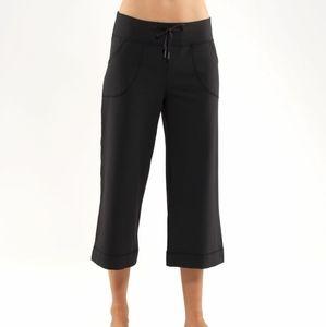 Lululemon Black Still Crops Cropped Pants Yoga